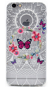 Capa traseira Estampa Borboleta TPU Macio Case Capa Para Apple iPhone 6s Plus/6 Plus / iPhone 6s/6