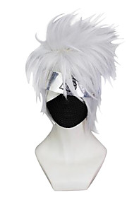 Cosplay Wigs Cosplay Cosplay Gray Short Straight Anime Cosplay Wigs 23 CM Synthetic Fiber
