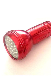 LED Lommelygter LED 1 Tilstand 50 Lumens Nødsituation LED AAA Camping/Vandring/Grotte Udforskning / Dagligdags Brug-Andre,Rød / Sølv