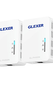 glexer gl ph500m 500Mbps RJ45 mini HomePlug Powerline AV karty sieciowe -White (2 szt)