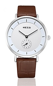 kezzi simple fashion style coffe color quarrz couple watch1080K