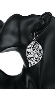 personlighed ol fine s925 sølv enkelhed hule blad dråbe øreringe til kvinder bryllupsfest smykker