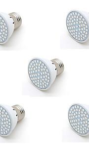 6W E26/E27 Luz de LED para Estufas PAR20 60 SMD 2835 500LM lm Vermelho / Azul Decorativa AC 220-240 V 5 pçs