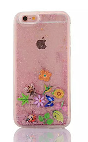 de volta Fluir Quicksand Líquido Animal PC Duro 液体 Case Capa Para Apple iPhone 6s Plus/6 Plus / iPhone 6s/6