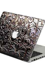 Gun Color Metal Flower Scratch Proof PVC Sticker For MacBook Air 11 13/Pro13 15/Pro with Retina13 15/MacBook 12