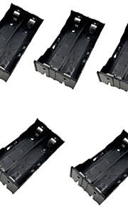 5pcs 2 18650 установлены параллельно и последовательно батареи случай батареи случае с универсальными выводами батареи 18650 коробки