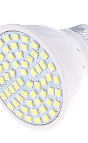 4 GU10 LED-spotpærer MR16 60 SMD 2835 350 lm Varm hvit / Kjølig hvit Dekorativ AC 220-240 V 1 stk.