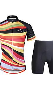 PALADIN Fahhrad/Radsport Kleidungs-Sets/Anzüge Damen Kurze ÄrmelAtmungsaktiv / UV-resistant / Rasche Trocknung / Verhindert Scheuerung /