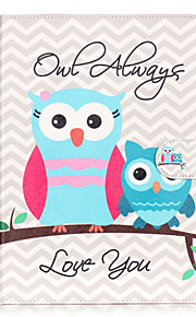 PU Leather Material owl Pattern Painted Embossed Tablet Case for iPad Air 2