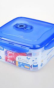 Square Shape Plastic Food Container Microwave 2.1L