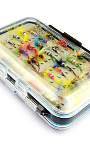 Anmuka 64pcs/box Flies Insect Baits With Hooks Feather Dry Ants Fishing Tackle Fly Fishing Lures Fishing Accessories