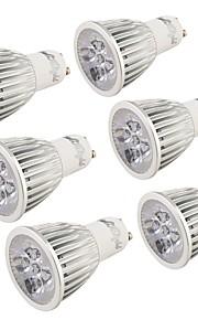 5 GU10 LED-spotpærer MR16 5 Høyeffekts-LED 500 lm Kjølig hvit Dekorativ AC 85-265 V 6 stk.