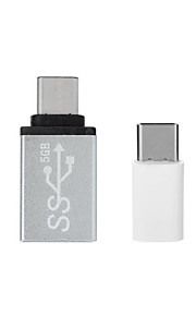 Type C Male to Micro USB Female Adapter + Type C Male to USB 3.0 Female Adapter