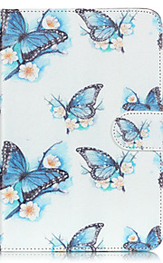 PU Leather Material Butterfly Embossed  Pattern Tablet Sleeve for iPad mini 4