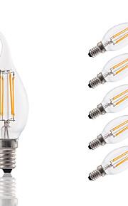3 E14 LED лампы накаливания B 4 COB 300 lm Тёплый белый Декоративная AC 220-240 V 6 шт.
