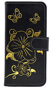 Flower Pattern Bronzing Card Holder PU Leather Material Leather for iPhone  6 6S  6 Plus 6S Plus