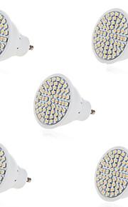 5 GU10 / GX5.3 LED-spotpærer MR16 60 SMD 2835 500LM lm Varm hvit / Kjølig hvit Dekorativ AC 220-240 V 5 stk.