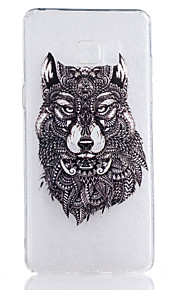 TPU Material Wolf Pattern Painted Relief Phone Case for Samsung Galaxy Note 7