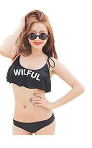 Personality Lotus leaf Bra Bikini Split Female Swimsuit