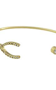 Manchetarmbånd 1pc,Moderigtig / Justérbar Round Shape Gylden Legering Smykker Gaver