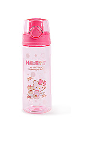 Cartoon PP Water Bottle Blue / Red