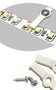 100 pack monteringsbraketter for LED stripe lys, fikse klipp, en-side feste, 100 skruer inkludert-10mm