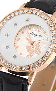 Mulheres Relógio Elegante / Relógio de Moda / Relógio de Pulso Quartz / PU Banda Borboleta / Legal / Casual Preta / Branco marca