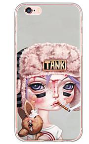 Funda Trasera Ultra-Fino / Traslúcido sexy lady TPU Suave Cubierta del caso para AppleiPhone 6s Plus/6 Plus / iPhone 6s/6 / iPhone