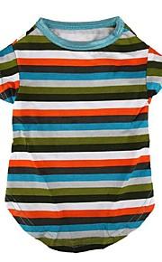 Hunde T恤衫 Multi-farvet Vinter / Sommer / Forår/Vinter Klassisk / Stripet Bryllup / Jul / Valentins / Mode, Dog Clothes / Dog Clothing-