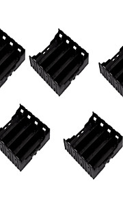 5PCS 18650 Section 4 DIY Lithium Battery Pack Installed Pin  Battery Holder Shatterproof Material Of The Battery Case