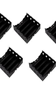 5pcs 18650 раздел 4 поделки литиевая аккумуляторная батарея установлена контактный держатель батареи небьющийся материал корпуса батареи
