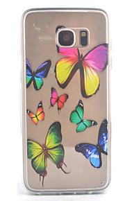 כיסוי אחורי Bisque פרפר אקרילי קשיח Case כיסוי Samsung Galaxy S7 edge / S7 / S6 edge / S6 / S5