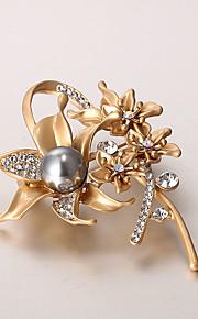 europæiske og amerikanske mode zircon perle broche serie 014