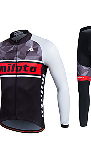 MILOTO Cycling Jersey Autumn Ropa Ciclismo Long Sleeve Sweat MTB Tracksuit Bicycle Clothing Riding Shirt Pants