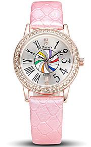 Mulheres Relógio de Moda / Relógio de Pulso Quartz / Couro Banda Legal / Casual Preta / Branco / Azul / Vermelho / Cinza / Roxa marca