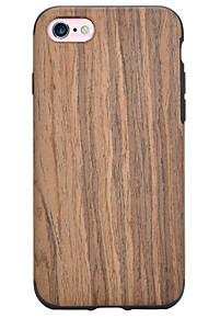 Skal Stötsäker trä TPU Mjuk Fallet täcker för Apple iPhone 7 Plus / iPhone 7 / iPhone 6s Plus/6 Plus / iPhone 6s/6