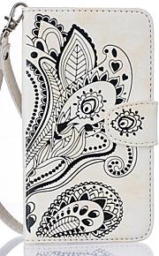 Cuerpo Completo billetera / Soporte de Tarjeta Flor Cuero Sintético Suave Cubierta del caso para Samsung Galaxy Note 7
