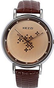 Mulheres Relógio de Moda / Relógio de Pulso Quartz / Couro Banda Legal / Casual Preta / Branco / Azul / Vermelho / Marrom marca
