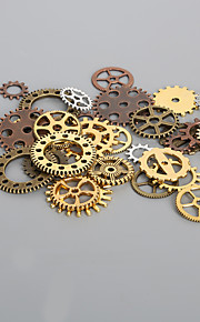 beadia 50g aassorted stilarter legeret metal hjul gear charme
