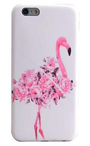 fenicottero modello di fiori tecnologia imd materiale cassa del telefono TPU per il iPhone 6S 6 Plus