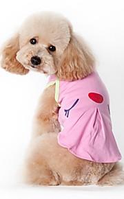 Gatos / Cães Fantasias / Camiseta / Colete Verde / Rosa Roupas para Cães Verão / Primavera/Outono American / EUAFérias / Da Moda / Casual