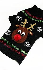 Koirat Neulepaidat Vihreä Koiran vaatteet Talvi Piirretty Joulu /