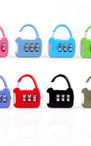 slumpmässiga färger bagage lås