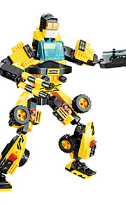 Building Blocks For Gift  / Car / Robot Education Toys For Boys 201pcs Plastic Black / Yellow