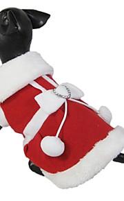 Gatos / Cães Fantasias / Casacos / Moletom / Roupa / Smoking / Vestidos Vermelho Roupas para Cães Inverno / Primavera/Outono LaçoCasual /
