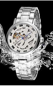 男性 機械式時計 自動巻き カレンダー / 耐水 ステンレス バンド カジュアルスーツ / 世界地図柄 ゴールド ブランド