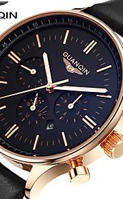 GUANQIN Masculino Relógio Elegante Relógio de Moda Relógio de Pulso Quartzo Quartzo Japonês Calendário Impermeável Fase da lua Luminoso