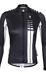 ILPaladin Sport Women Long Sleeve Cycling Jerseys  CX646 Article Black And White