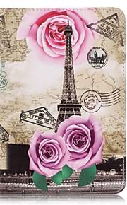 Ganzkörper Brieftasche / Kartenhalter Eiffelturm PU - Leder Hart Fall-Abdeckung für Apple iPad Mini 4 / iPad Mini 3/2/1