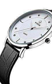 WWOOR Masculino Relógio Elegante Relógio de Moda Relógio de Pulso Quartzo Quartzo Japonês Impermeável imitação de diamante Couro Legitimo